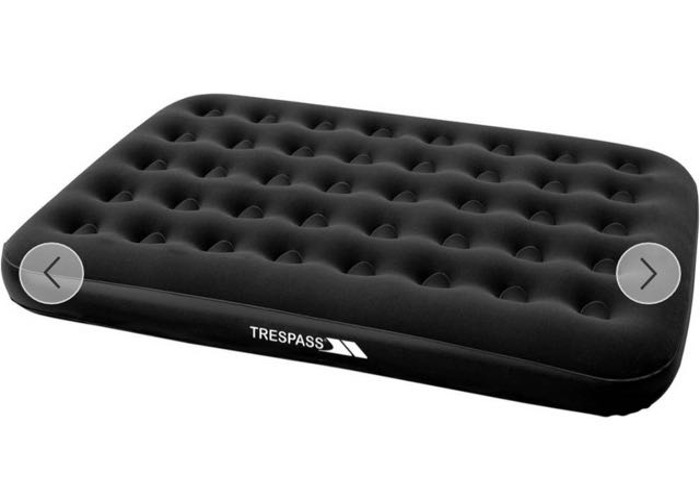 Trespass Double Flocked Air Bed with Mains Pump - 1