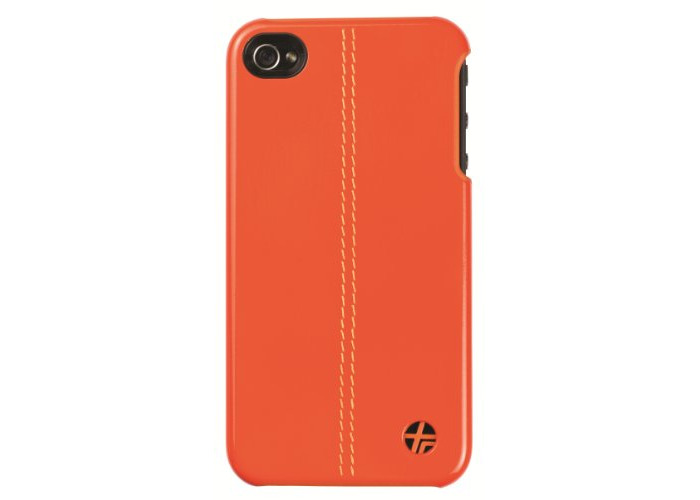 Trexta - Leather Snap on Cover Classic - for Apple iPhone 4, 4S - Orange - 2