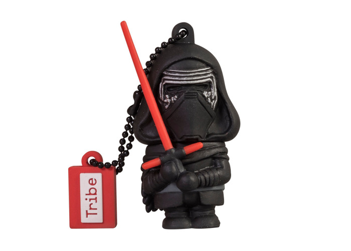Tribe Disney Star Wars Kylo Ren USB Stick 16GB Pen Drive USB Memory Stick Flash Drive, Gift Idea 3D Figure, PVC USB Gadget with Keyholder Key Ring - Black - 2