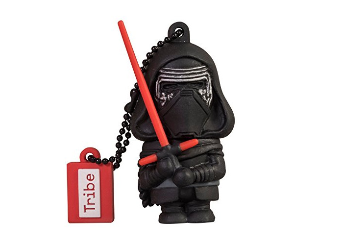 Tribe Disney Star Wars Kylo Ren USB Stick 16GB Pen Drive USB Memory Stick Flash Drive, Gift Idea 3D Figure, PVC USB Gadget with Keyholder Key Ring - Black - 1
