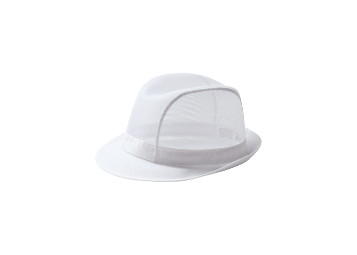 Trilby Hat  White  Medium  R - 1