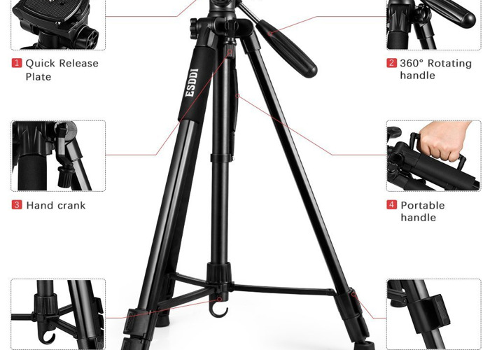 Tripod Lightweight with Carry Case - 1
