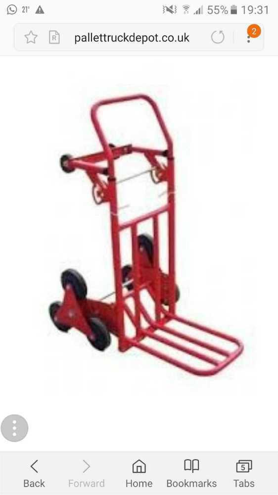 Trolley with wheels for steps/stairs - 1