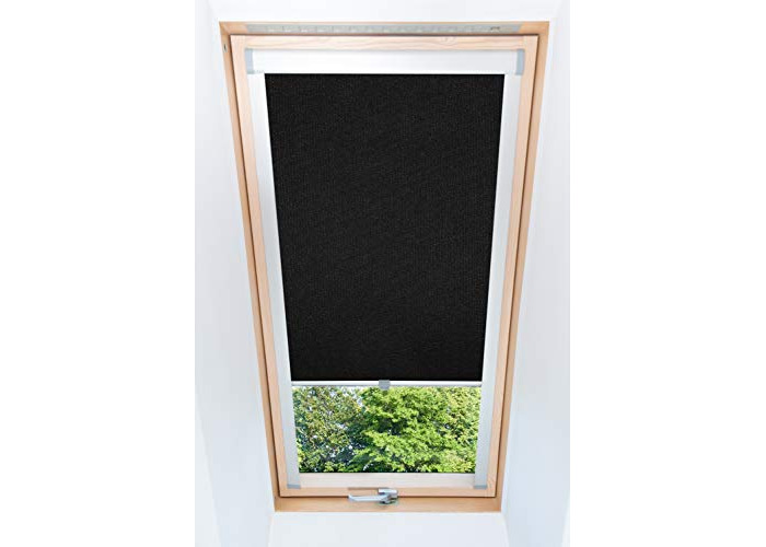 Tropik home Blackout Thermal Skylight Roller Blinds For Velux Roof Windows, Many Sizes, Black (MK06) - 1