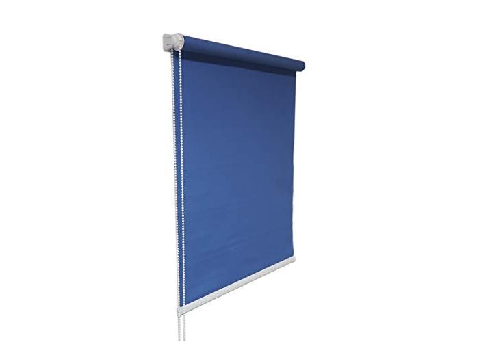Tropik home Blue Window Roller Blind Choice of 19 Width Sizes, 200cm Drop, 75cm wide (+4.5cm fittings) - 1