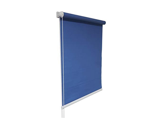 Tropik home Blue Window Roller Blind Choice of 19 Width Sizes, 200cm Drop (80cm wide (+4.5cm fittings)) - 1