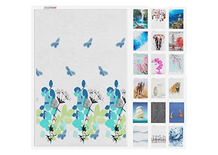 Tropik home Digital Print Antislip Bathroom Mats/Rugs, and Colours, 50 x 80cm (Spring) - 1