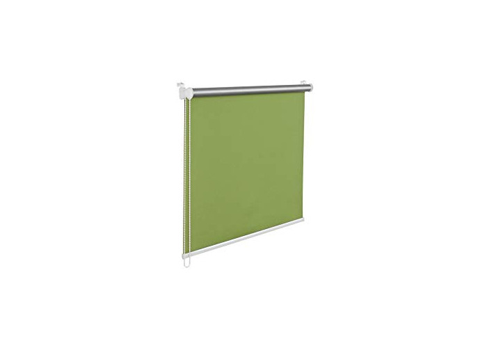Tropik home Green Thermal Blackout Window Roller Blind Available in 16 Width Sizes, 100cm wide (plus 4.5cm fittings) - 1
