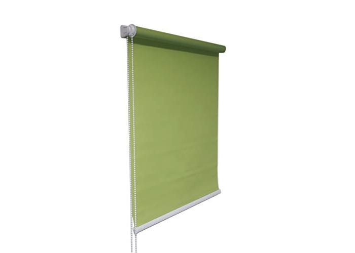 Tropik home Green Window Roller Blind Choice of 19 Width Sizes, 200cm Drop, 65cm wide (+4.5cm fittings) - 1