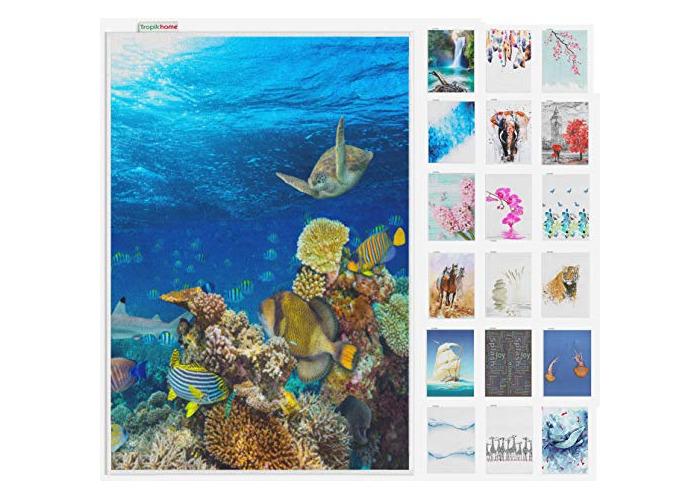 Tropik home Large Digital Print Antislip Bathroom Mats/Rugs, and Colours, 60 x 100cm (Sea Life) - 1