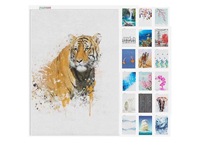 Tropik home Large Digital Print Antislip Bathroom Mats/Rugs, and Colours, 60 x 100cm (Tiger) - 1