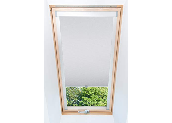 Tropik home Light Grey Blackout Thermal Skylight Roller Blinds For Velux Roof Windows, Many Sizes (M04/04/1) - 1