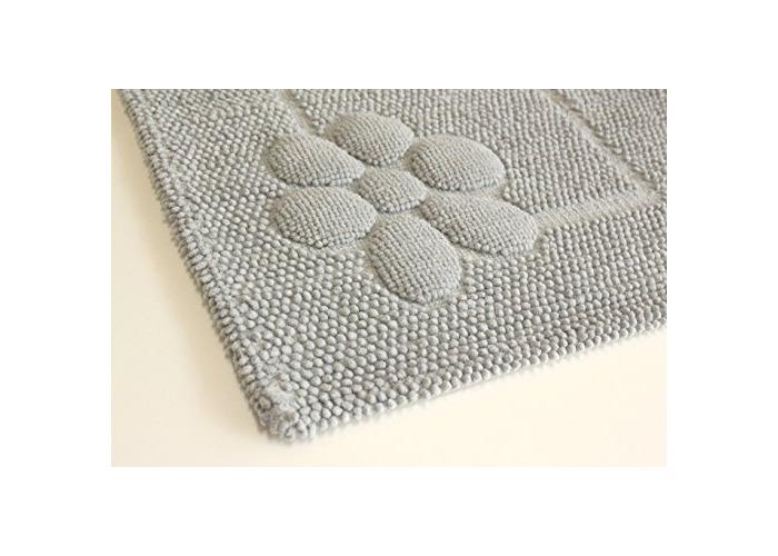 Tropik home Luxury Soft Cotton Bathmat 50x60CM (20x24) Washable Bath Mat (Duck Egg) - 1
