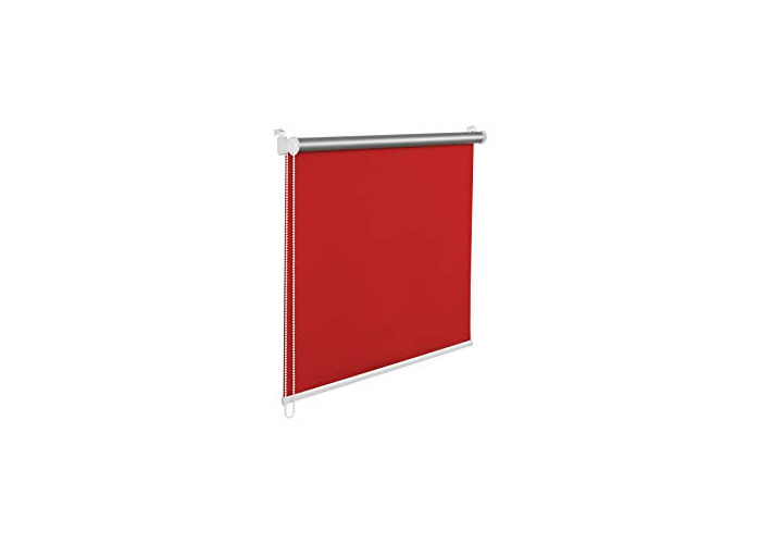 Tropik home Red Thermal Blackout Window Roller Blind Available in 16 Width Sizes, 70cm wide (plus 4.5cm fittings) - 1