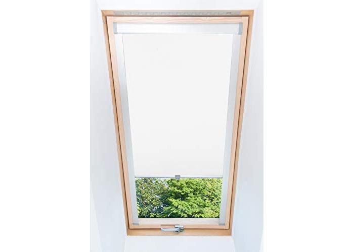 Tropik home White Blackout Thermal Skylight Roller Blinds For Velux Roof Windows, Many Sizes (M04/04/1) - 1