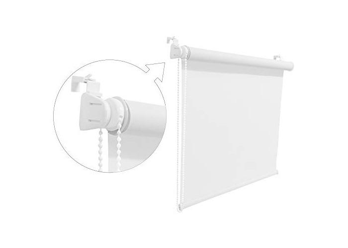 Tropik home White Window Roller Blind Choice of 19 Width Sizes, 200cm Drop, 45cm wide (+4.5cm fittings) - 1