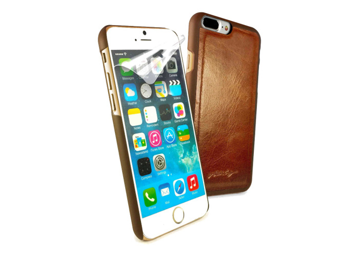 Tuff-Luv Alston Craig Vintage Shell for Apple iPhone 7+ Leather Brown - 1