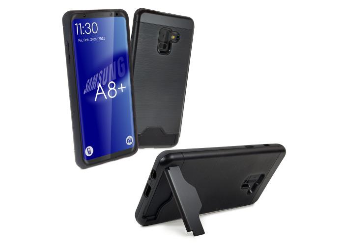 Tuff-Luv Armour Case for Samsung Galaxy A8+ Black - 1