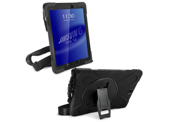 Tuff-Luv Armour Guard Case for Samsung Galaxy Tab S3 9.7 Black - 1