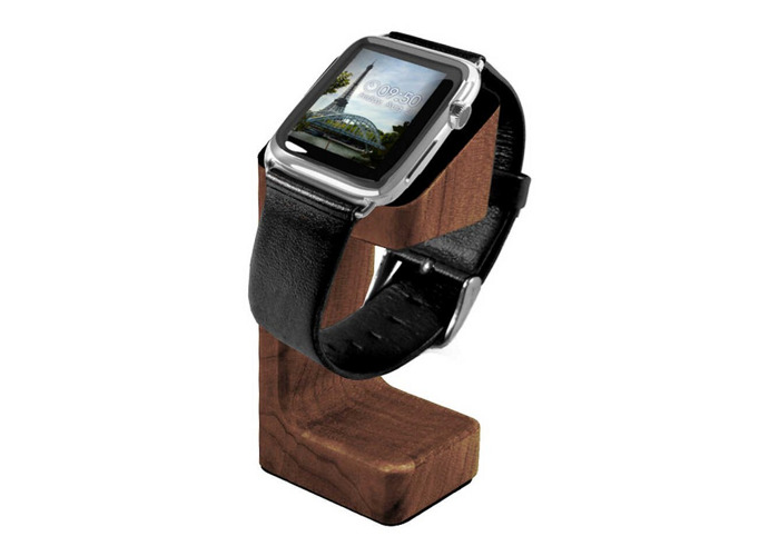 Tuff-Luv Charging Stand for Watch Brown Mahogany Effect - 1