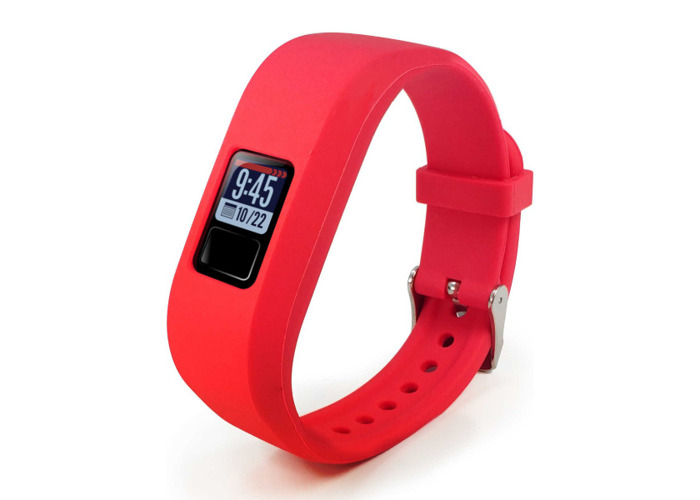 Tuff-Luv Garmin Vivofit 3 Wrist/Watch Strap Silicone Red - 1