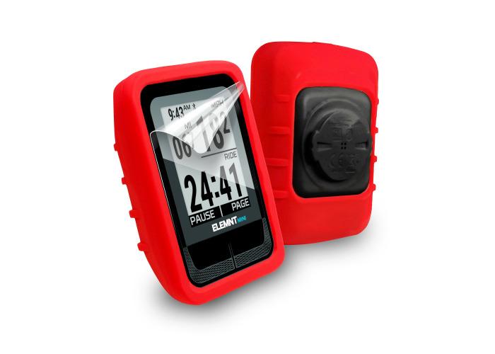 Tuff-Luv Gel Skin Case for Wahoo Elemnt Mini Silicone Red - 1