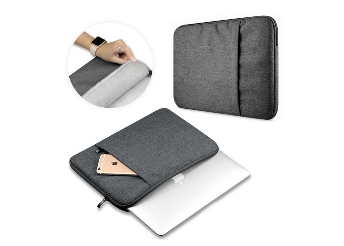 Tuff-Luv ProBiz Laptop Sleeve Max 15'' Canvas Dark Grey - 1