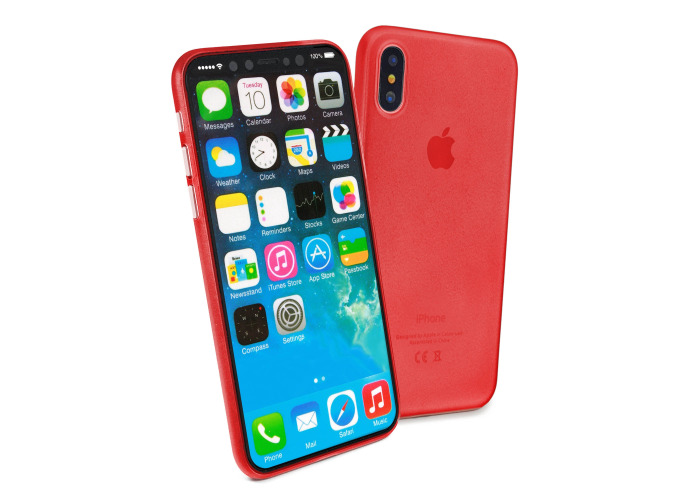 Tuff-Luv Rigid Skin for Apple iPhone X Red - 1