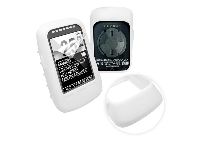 Tuff-Luv Silicone Skin for Wahoo Elemnt Bolt White - 1
