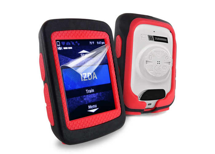 Tuff-Luv Silicone Twin Layer Skin for Garmin Edge 520 Black/Red - 1