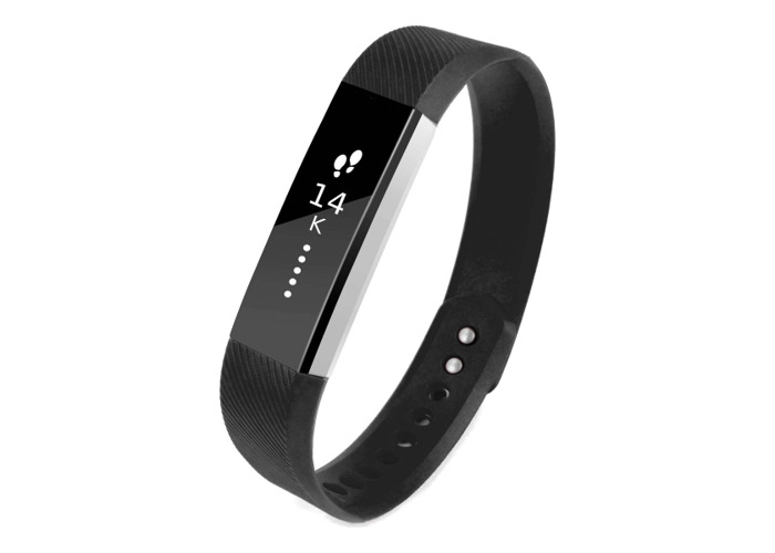 Tuff-Luv Strap Wristband with Clasp for Fitbit Alta Small Black - 1