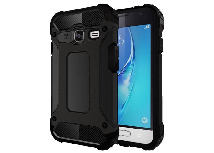 Tuff-Luv Tough Armour Cover for Samsung Galaxy J1 Mini/J105 Black - 1