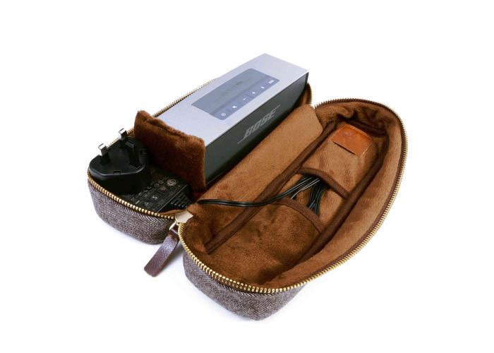 Tuff-Luv Travel Case For Bose SoundLink Mini/Mini II Herringbone Tweed Brown - 1