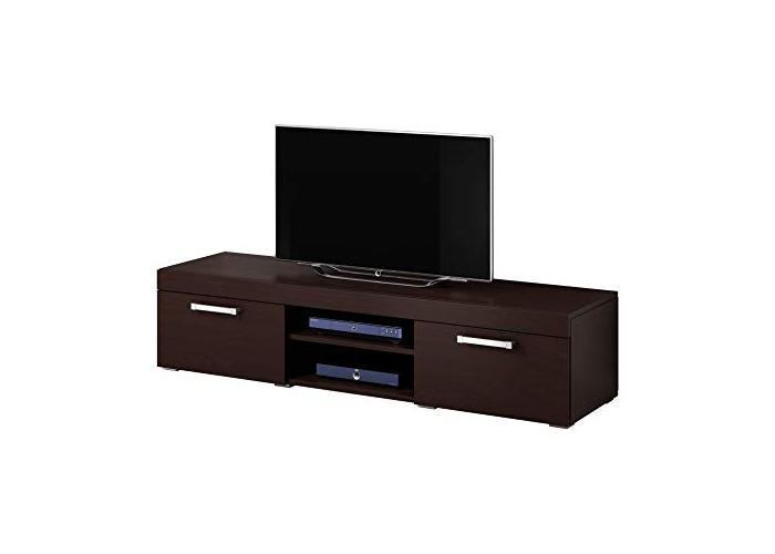 TV Unit Cabinet Stand Mambo Dark Oak Wood Wenge 160 cm - 1