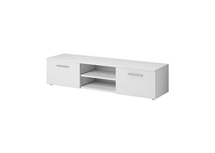 TV Unit Cabinet Stand Vegas 150 cm Matte White - 1
