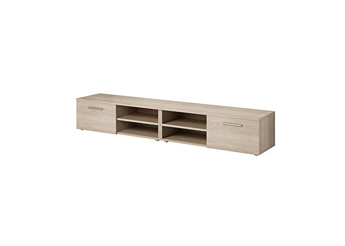 TV Unit Cabinet Stand Vegas 240 cm Light Oak Wood Sonoma - 1