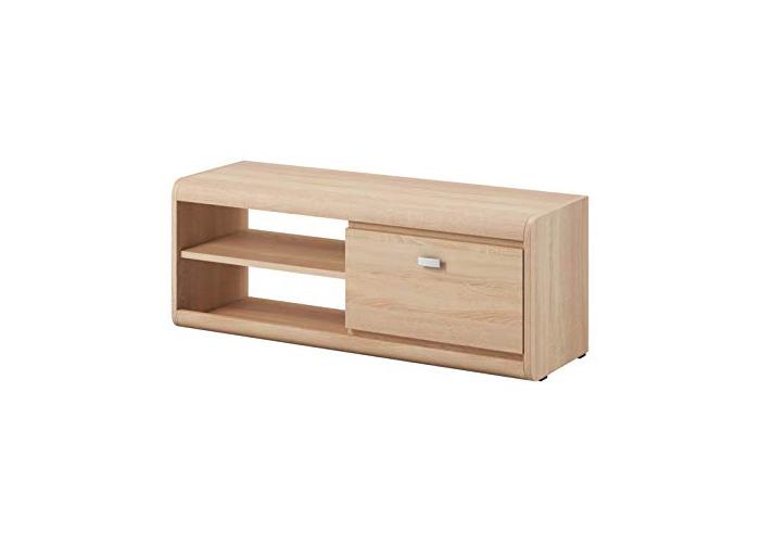 TV Unit Cabinet TV Stand Entertainment Lowboard Edge 119 cm Light Oak Sonoma - 1