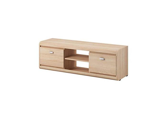 TV Unit Cabinet TV Stand Entertainment Lowboard Edge 139 cm Light Oak Sonoma - 1