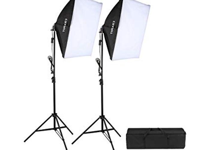 Two soft box lights - 125W  - 1