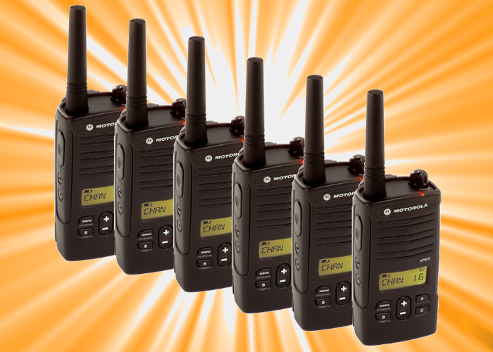 Two-Way Radio Kit x6 / Walkie Talkies Motorola XTNiD  - 1