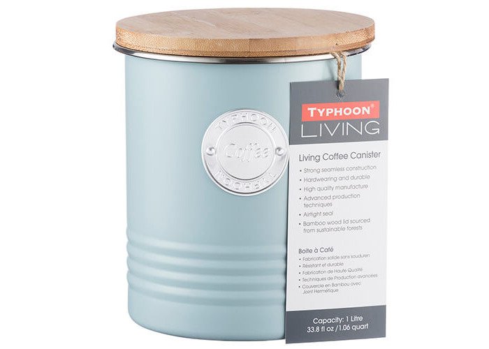 Typhoon Living Coffee Canister Blue 1 Litre - 2