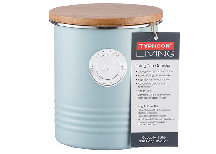 Typhoon Living Tea Canister Blue 1 Litre - 2