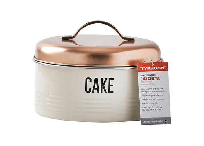 Typhoon Vintage Copper Cake Storage - 2