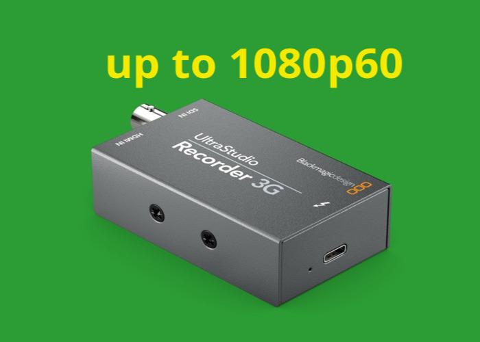 Rent Ultrastudio Recorder 3g Sdi Hdmi With Thunderbolt 3 Cable Blackmagic Design Mini Recorder In Croydon Rent For 16 00 Day 100 00 Week 400 00 Month Fat Llama