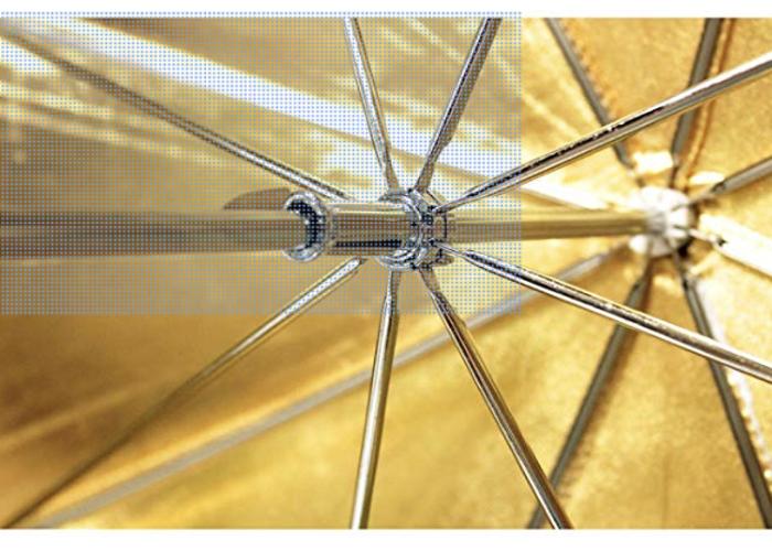 Umbrella Gold/Warm 180cm Parabolic Style - 2