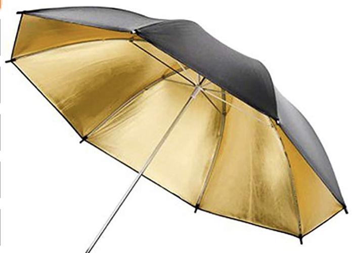 Umbrella Gold/Warm 180cm Parabolic Style - 1