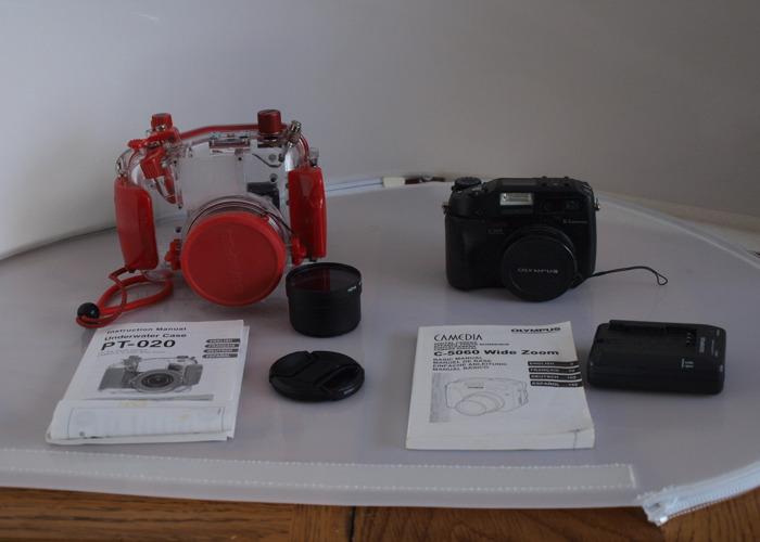 Underwater Camera Outfit/ Olympus C5060 w/ PT-20 Case  - 1