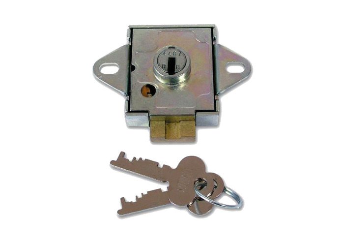 UNION 4348 7 Lever Deadbolt Locker Lock - 6mm KD - 1