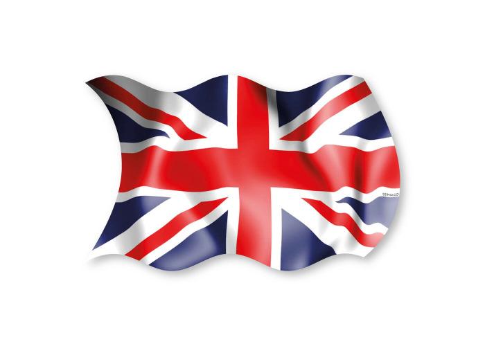 Union Jack UK Flag- Vinyl Sticker- Great Britain Car- Van- Truck Sticker - 1