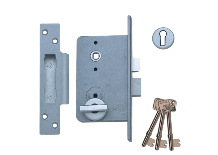 UNION Wellington 4G 6 Lever Sashlock - 4GB LH - Lock, Thumbturn, Escutcheon & Lever Handles - 1